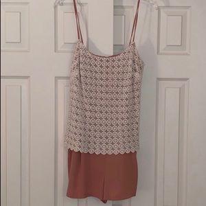 Ark & Co Crochet Lace Large Romper